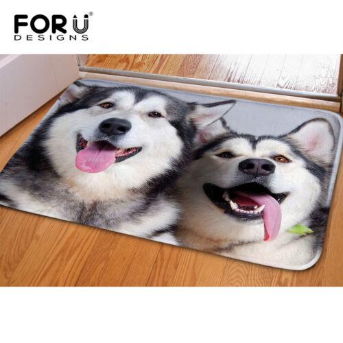 Washable Non Slip Bath Mat Carpet Floor Rug Funny Wolf Doormat Kids Bedroom Mats