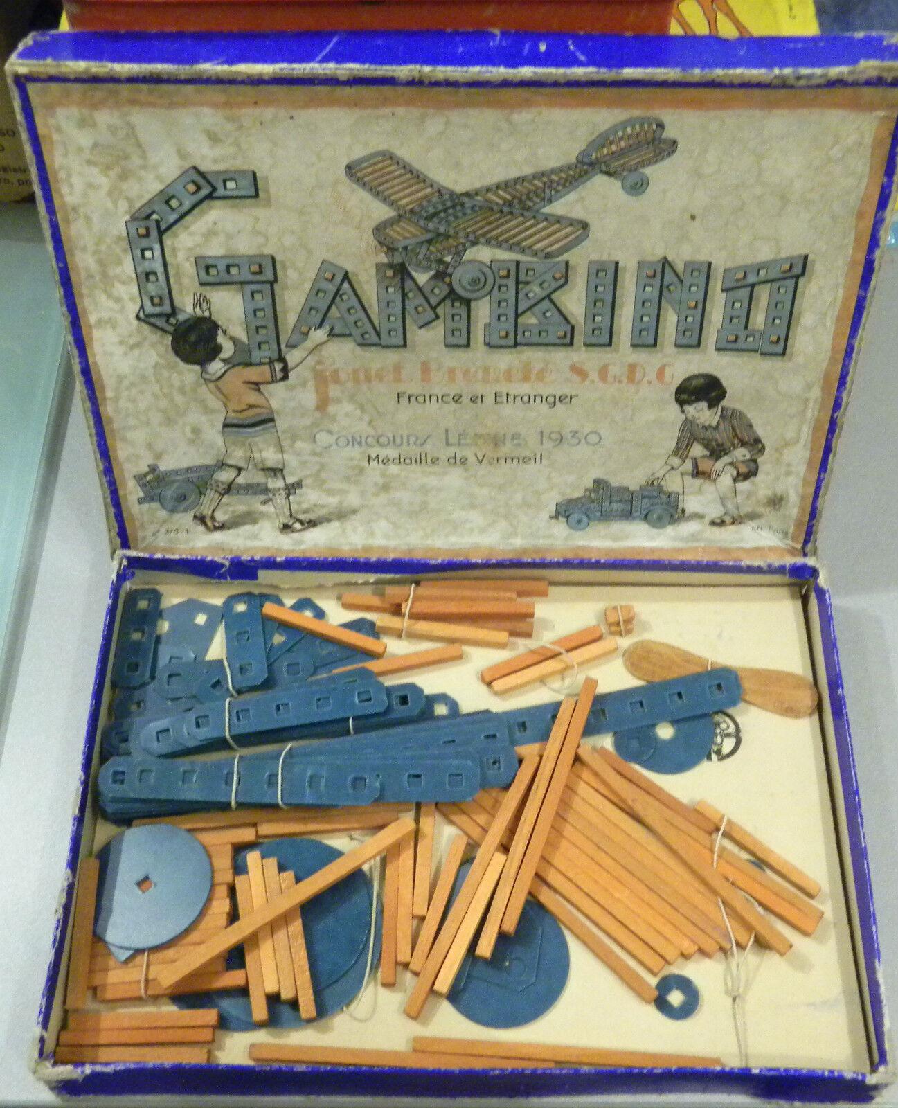 (PRL) GAMBINO JOUET S.G.D.G. 1930 FRANCE GIOCO leksak årgång ANNI'30 AEREO AVION