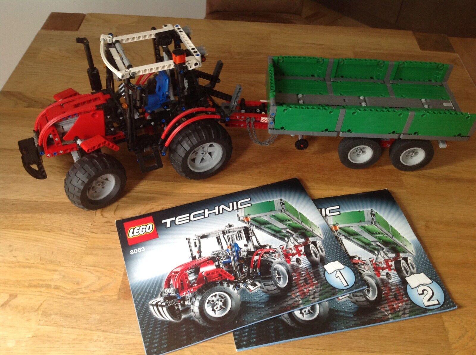 Lego Technic 8063 Traktor mit Anhänger ohne OVP Sammlerstück