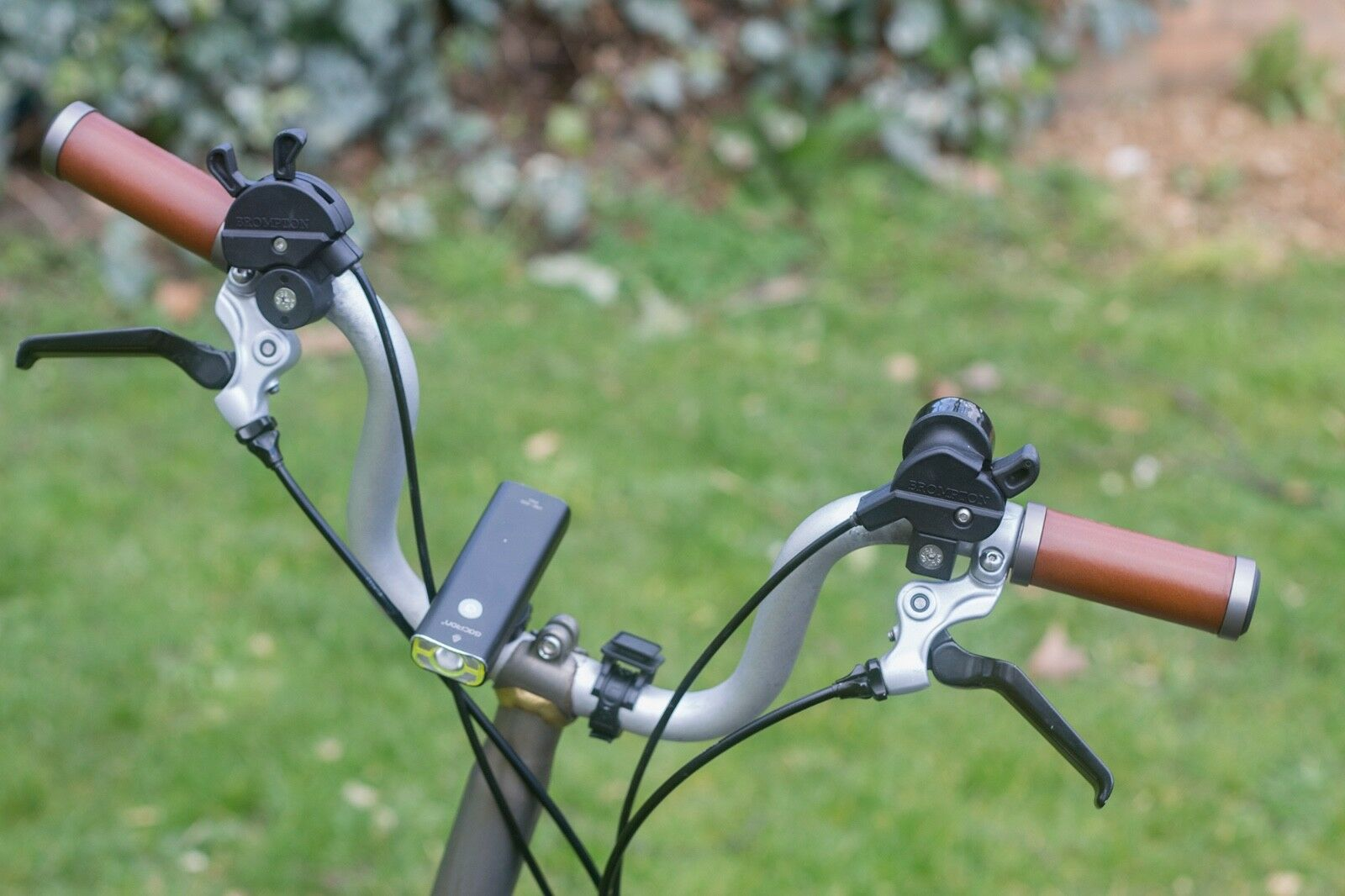 BROMPTON M/H/S Cuir Poignées M/H/S BROMPTON type Guidon Court Droite ergonomique noir marron 62037b