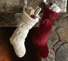 Pottery Barn Chunky Ivory Cream Cable Knit Stocking With Tags ...