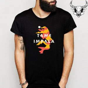 Tame-Impala-Poster-Tour-Rock-Band-Men-039-s-Black-T-Shirt-Size-S-to-3XL