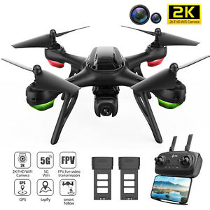 Holy Stone HS130D GPS Drone with 2K Camera 2.4G WIFI Quadcopter with 2 Batteries