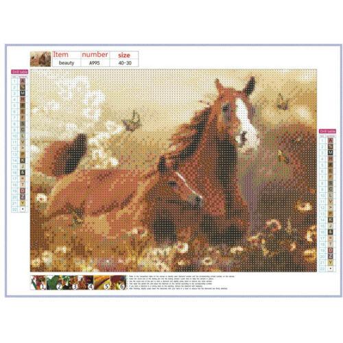 Forest Horse Full Drill 5D Diamond Painting DIY Cross Stitch Kits Home Decor Art