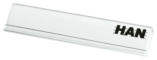 10 St Beschriftungsclip Clip transparent Briefablagen 6,0 x 1,3 cm Kunststoff!