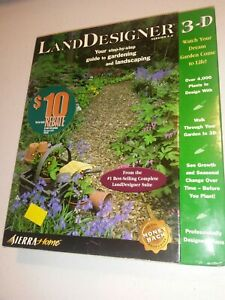 Sierra-Home-Land-Designer-3D-Design-Software-WIN-95-98-CDs-Brand-New-Sealed