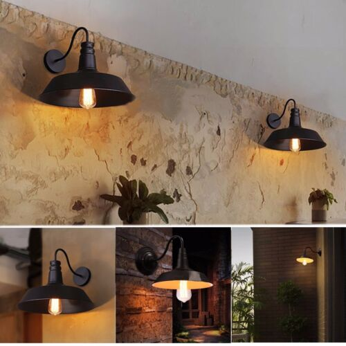 2x Iron Vintage Retro Home Rustic Wall Sconce Light Outdoor Garden Lamp   !!!