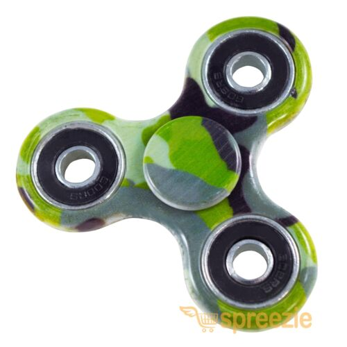 Camouflage Fidget Spinners Hand Spinner Toy Stress Reliever Focus ADHD Anxiety