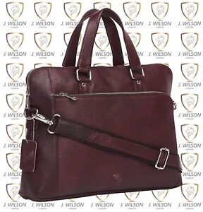 Mens Designer Leather Laptop Bag Ladies Shoulder Work Messenger Cross Body Case