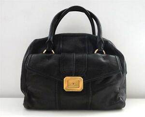 Image Is Loading Authentic Juicy Couture Black Leather Monaco Satchel Hobo