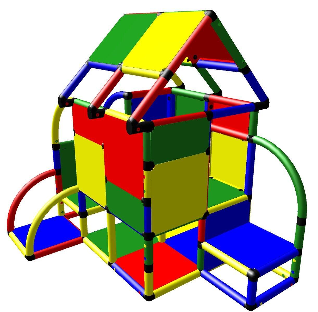 Moveandstic Kinderspielhaus Baukasten Klettergerüst Indoor 6008 Spielhaus