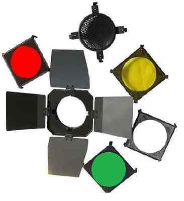 Barn Door Color Gel Filter Honeycomb 98mm Barndoor For Mini Flash Photo Studio