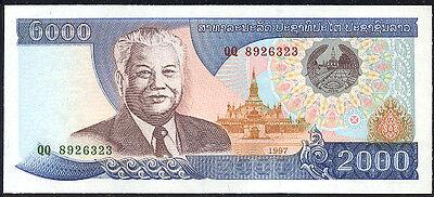 Disciplined Lao Laos - 2000 Kip 1997 Unc - P 33a 100% Guarantee