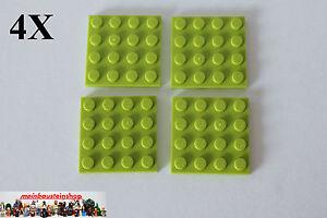 LEGO Bau- & Konstruktionsspielzeug Baukästen & Konstruktion 10X Lego® 3031 Basic Platten Platte Plate 4X4 Blau Blue