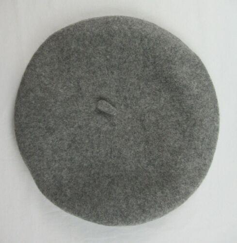Roeckl Classic Wool Beret Hat Grey Size 58