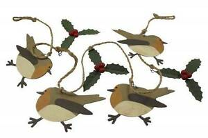 SHOELESS-Joe-NATALE-Robin-e-Holly-Garland-RUSTIC-Stile-NATALE-DECOR