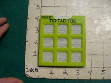 pocket TIC TAC TOE, undated, made in Japan, cool design,