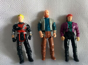 Vintage-Kenner-1985-M-A-S-K-Lot-of-Three-3-034-Articulated-Figures-without-masks