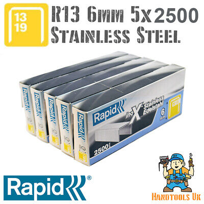 5 x 5000 Rapid R13 10mm Galvanized Steel Staples Bulk Pack for WHOLESALE