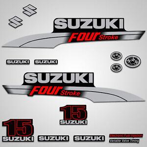 15hp SUZUKI OUTBOARD DECALS