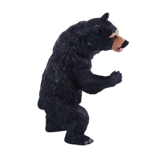 Simulation Plastic Wild Animal Model Toys For Children Little Black Bear FamilyG