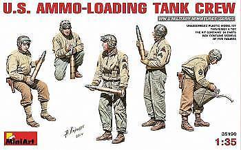 Miniart 1/35 US Munición Carga Tanque tripulación # 35190