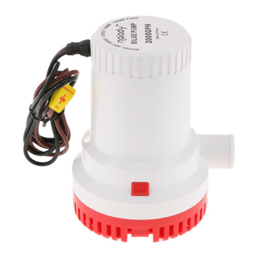 12V 2000GPH Automatic Submersible Bilge Water Pump Float Switch