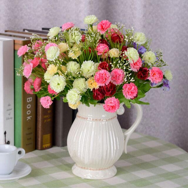 Nelke Kunstblumen Carnation Strauß NELKENZWEIG 23 BLÜTEN Nelkenbusch Deko Farbig