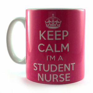 BRAND-NEW-KEEP-CALM-I-039-M-A-STUDENT-NURSE-PINK-GIFT-MUG-CUP-AND-CARRY-ON-RETRO