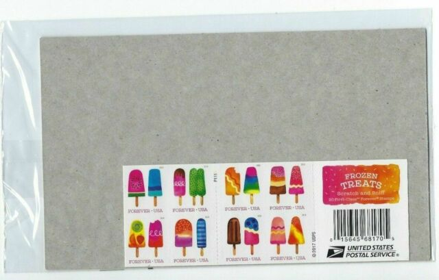 Frozen Treats Usps Forever Stamp Book Of 20 Stamps Scratch And Sniff