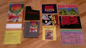 Dragon-Warrior-I-1-I-i-Nintendo-NES-Game-Manual-Box-Hint-Sheet-Complete-CIB-Lot