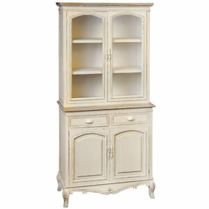 SHABBY-CHIC-CREAM-GLAZED-KITCHEN-DRESSER-CABINET-COTTAGE-COUNTRY-H7855