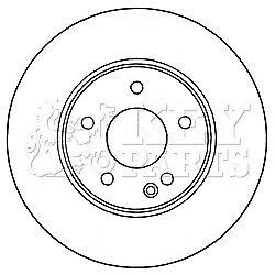 Pair Vented Front 1.8 2.0 2.2D 95 to 08 288mm Set MERCEDES C200 2x Brake Discs