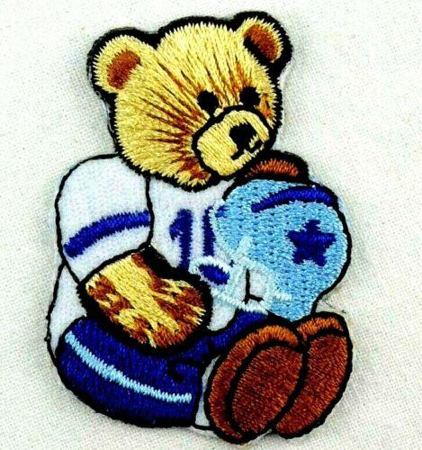 Applikation zum Aufbügeln Bügelbild 2-935 Teddy Bär als Football-Spieler