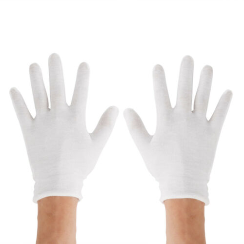 12Pairs Reusable 100/% Cotton Work Gloves Use for Moisturizing Jewelry Inspection