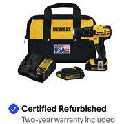 DEWALT DCD780C2 20V MAX 1/2 in. Compact Drill Driver Kit Certified Refurbished