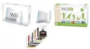Wii-console-BOXED-wii-board-min-10-extra-games-BUNDLE