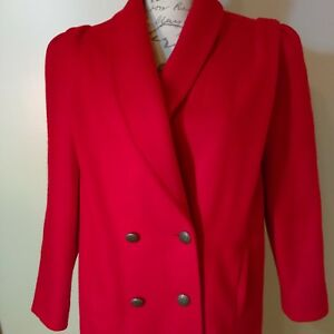 Jofeld Midi Button M Taglia Wool Front Red Coat OO5wArq