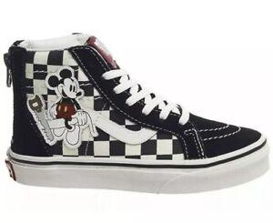 3cb5afc41a9c VANS Sk8-Hi ZIp Disney Mickey Shoes Sneakers Checkerboard Sz 10.5 ...