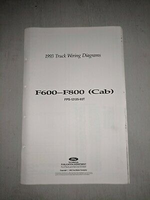 1993 ford f600 f700 f800 truck electrical wiring & vacuum diagram ... 1993 ford f700 wiring diagrams  ebay