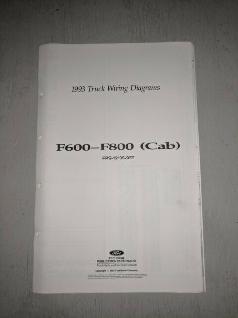 1993 Ford F600 F700 F800 Truck Electrical Wiring  U0026 Vacuum