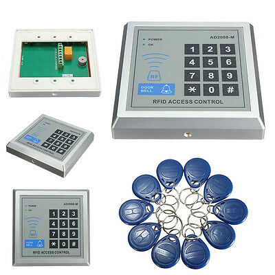 500 User Door Lock Access Control System Security RFID Proximity Entry + 10 Keys