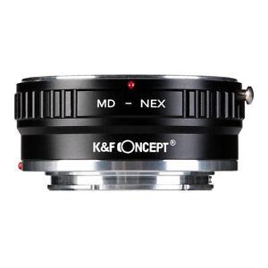 K-amp-F-Concept-Adaptador-Montura-de-Cobre-para-Minolta-MD-Lente-a-Sony-NEX-E-Camara