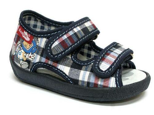 Blue Check UK 4 // EU 20 Baby Toddler Boys Canvas Shoes Kids Sandals