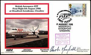 Brooklands Museum VAFA 07 British Aerospace ATP Signed Flight Cover #C38175