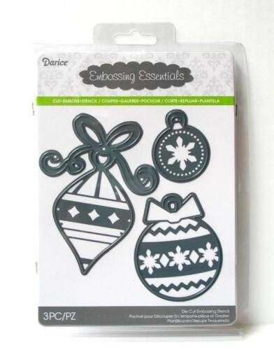 Darice Cutting Dies Christmas ORNAMENTS Die Cut Embossing Stencil 2014-96