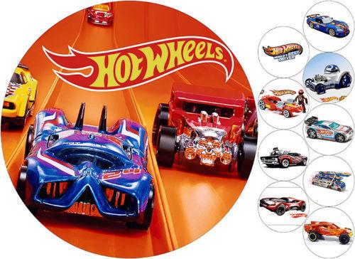 Tortenaufleger---Hot Wheels---Geburtstag--Party--Tortenbild--Fondant ////Oblate