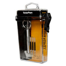 TRUE UTILITY TELEPEN + HARD CASE small telescopic keyring pen key ring + refills