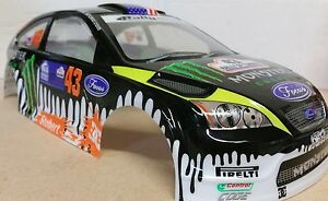1 10 Rc Car 190mm On Road Drift Rally Ford Focus Monster Energy Body
