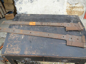 Charnieres de porte ancienne fer forg pentures fiches french antique hinge 3 ebay for Porte fer forge ancienne